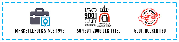 ISO 9001:2000 Certified, Market Leader Since 1990 - Govt Approved